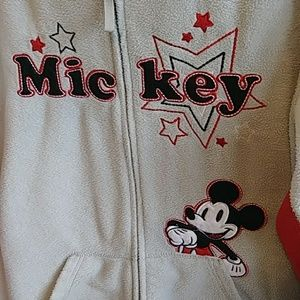Disney Tops - Disney Mickey Mouse Fleece Hoodie Sz XL(15-17)